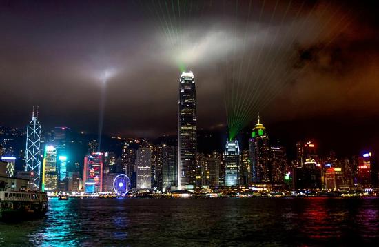 Hong Kong Skyline point of interest landmarks